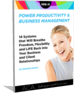 Power Productivity & Biz Management for Administrative Consultants (GDE-41)