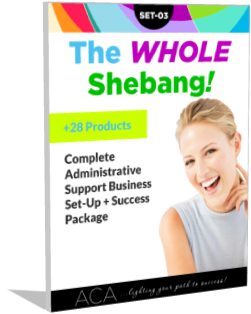 SET-03 The Whole Shebang Complete Administrative Support Business Success Pack – 28 products in all!